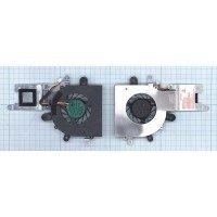 Вентилятор (кулер) для ноутбука DNS M1115, 0130181, M1100, M1110, 130183 + система охлаждения