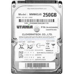 """Жесткий диск 2,5"""" 250GB UTANIA MM802JS SATA 5400rpm 8Mb, Новый"""