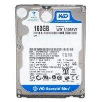 "*Б/У* Жесткий диск 2,5"" 160Gb WD WD1600BEVT SATA-II 5400rpm, с разбора [HDD160-X]"