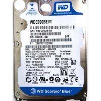 "*Б/У* Жесткий диск 2,5"" 320Gb WD WD3200BEVT SATA-II 5400rpm, с разбора [HDD320-X]"
