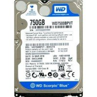 "*Б/У* Жесткий диск 2,5"" 750Gb WD WD7500BEVT SATA-II 5400rpm, с разбора [HDD750-X]"
