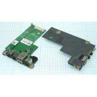 Разъем для ноутбука HY-DE032 DELL LATITUDE E5500 на плате с USB и Audio разъемами