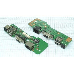 Разъем для ноутбука HY-DE033 DELL Inspiron 1545 на плате с USB VGA и LAN разъемами