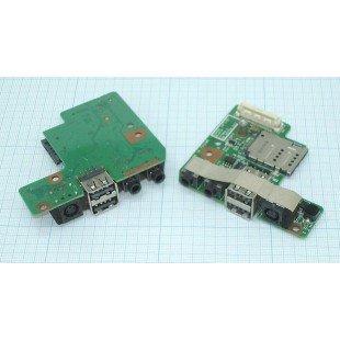 Разъем для ноутбука HY-DE031 Dell Latitude E5400 на плате с USB и Audio разъемами