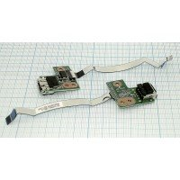 Разъем USB для ноутбука HP Pavilion G62 с платой и кабелем