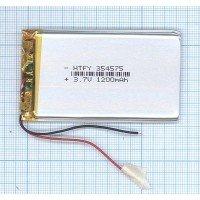 Аккумулятор Li-Pol (батарея) 3.5*45*75мм 2pin 3.7V 1200mAh