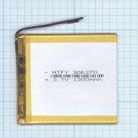 Аккумулятор Li-Pol (батарея) 3*62*70мм 2pin 3.7V 1300mAh