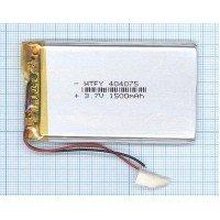 Аккумулятор Li-Pol (батарея) 4*40*75мм 2pin 3.7V 1500mAh