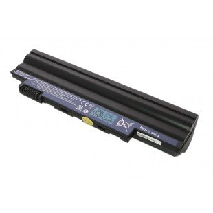 Аккумуляторная батарея повышенной ёмкости для ноутбука Acer Aspire One D255 D260 eMachines 355 350 черная (11.1 В 6600 мАч)