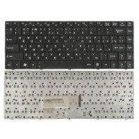 Клавиатура для ноутбука MSI CX480 X350 X360 X370 X420 X460 X460DX черная с черной рамкой