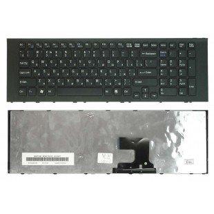 Клавиатура для ноутбука Sony Vaio VPC-EJ (RU) черная, черная рамка