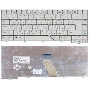 Клавиатура для ноутбука Acer Aspire 4220, 4230, 4310, 4520, 4710, 4720, 4900, 5220, 5230, 5300, 5315, 5520, 5700, 5710, 5910, 5920, 6920 (RU) белая [00071]