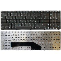 Клавиатура для ноутбука Asus K50, K51, K50AB, K50C, K50IN, K50IJ, K50IN, K60, G70 ver. 1 (RU) черная [10038]