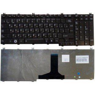 Клавиатура для ноутбука Toshiba Satellite P200, P300, A500, A505, P500, L350,  X205 (RU) черная [10028]