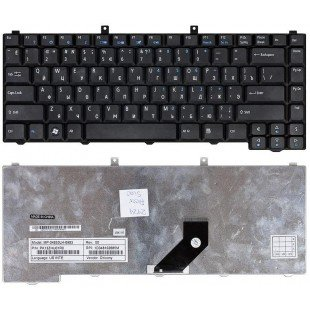 Клавиатура для ноутбука Acer Aspire 3100, 3600, 3650, 3690, 5100, 5110, 5610, 5620, 5630, 5650, 5680, 9110, 9120, Extensa 1670, 5200, 5510 (RU) черная [00511]