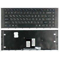 Клавиатура для ноутбука Sony Vaio VPC-EA (RU) черная, черная рамка [10217]