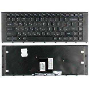 Клавиатура для ноутбука Sony Vaio VPC-EA (RU) черная, черная рамка