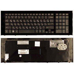 Клавиатура для ноутбука HP ProBook 4720 4720S (RU) черная, широкая рамка [00119]