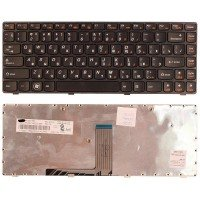 *SALE* Клавиатура для ноутбука Lenovo B470, B475, G470, V470 (RU) черная, черная рамка [10029]