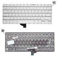 """Клавиатура для ноутбука Apple A1342 белая 13,3"""" плоский Enter"""