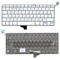 """Клавиатура для ноутбука Apple A1342 белая 13,3"""" большой Enter"""