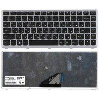 Клавиатура Lenovo IdeaPad U310 (RU) черная, с серебристой рамкой [10106]