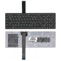 Клавиатура для ноутбука Asus K55 X501 K55XI черная без рамки (большой Enter) [10222]