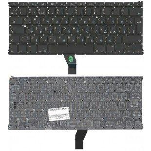 Клавиатура для ноутбука Apple A1369 2011+ черная с подсветкой, большой ENTER RU original