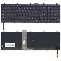 Клавиатура для ноутбука MSI GE60 GE70 GT70 с подсветкой черная с рамкой