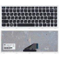 Клавиатура Lenovo IdeaPad U310 (RU) черная, с серой рамкой