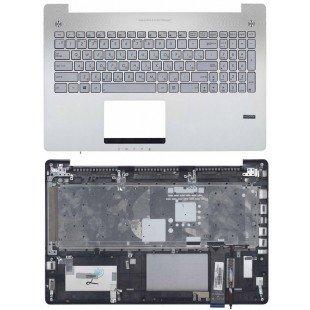 Клавиатура для ноутбука ASUS N550 серебристая топ-панель