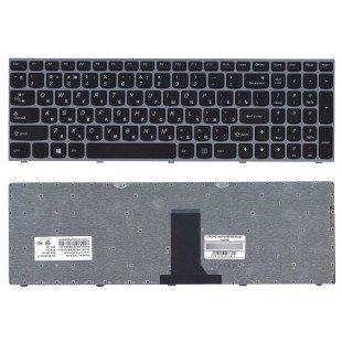 Клавиатура для ноутбука LENOVO B5400 M5400, черная, серая рамка, RU