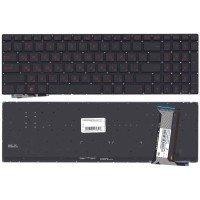 Клавиатура для ноутбука Asus G771 (N551) с подсветкой черная без рамки
