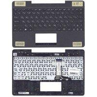 Клавиатура для Asus T100 TA черная топ-панель