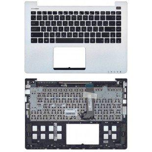 Клавиатура для ноутбука ASUS VivoBook S400CA S451 S401 черная топ-панель серебристая
