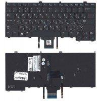Клавиатура для ноутбука Dell Latitude e7440 e7420 черная с подсветкой
