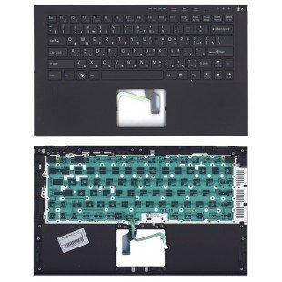 Клавиатура для ноутбука Sony svz13 черная топ-панель