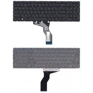 Клавиатура для ноутбука HP Pavilion 15-AB, 15-BS, 15-RA, 17-AB, 17-BS, 17-G, 250 G6, 255 G6, 256 G6, 258 G6 черная с белой подсветкой, без рамки