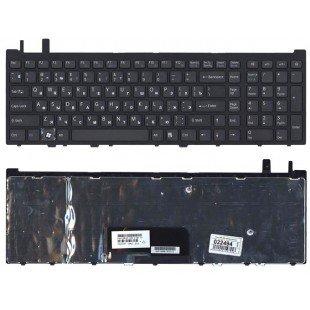 Клавиатура для ноутбука Sony VGN-AW черная с рамкой