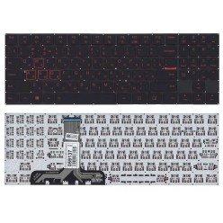 Клавиатура для ноутбука Lenovo Legion Y520 Y520-15IKB черная без рамки, белая подсветка