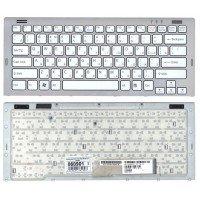 Клавиатура для ноутбука Sony Vaio VGN-SR белая c рамкой