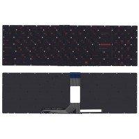 Клавиатура для ноутбука MSI GT72 GS60 GS70 GP62 GE70 GL72 GE72 черная с красной подсветкой