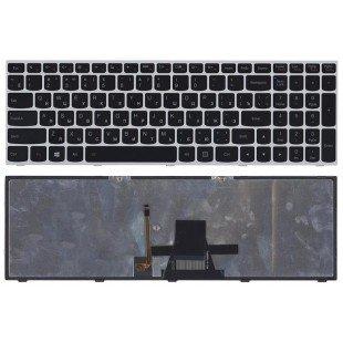 Клавиатура для ноутбука Lenovo IdeaPad G50-70 G50-30 черная с серой рамкой c подсветкой