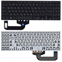 Клавиатура для ноутбука Asus X507, X507M, X507U, F507, R523 черная без рамки (RU), плоский Enter [10027]
