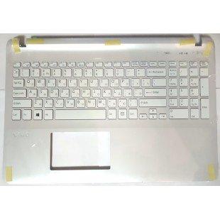 Клавиатура для ноутбука Sony FIT 15 SVF15 (RU) серебристая топ-панель, без подсветки