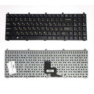 Клавиатура для ноутбука DNS 0116092, 0116093, 0116094 (RU) черная, УЗКИЙ Enter