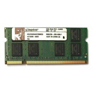 Модуль памяти SODIMM 2Gb PC6400 (800MHz) DDR2 Kingston ASU256X64D2S800C6 2R*8 PC2-6400S-666-12-E2, с разбора