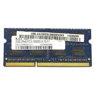 *Б/У* Оперативная память SODIMM 2Gb (1333Hz) DDR3 Elpida EBJ21UE8BDS0-DJ-F PC3-10600S-9-10-F1, с разбора