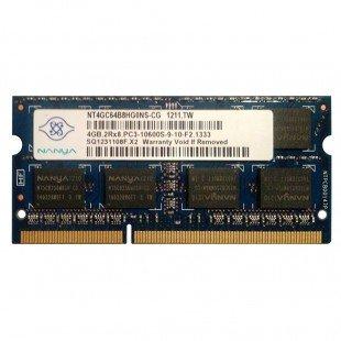 *Б/У* Оперативная память SODIMM 4Gb (1333MHz) DDR3 Nanya NT4GC64B8HG0NS-CG PC3-10600S-9-10-F2.1333, с разбора