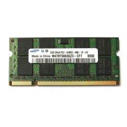 !Оперативная память SODIMM 2Gb (800MHz) DDR2 Samsung M470T5663QZ3-CF7 2R*8 PC2-6400S-666-12-E3 [10274]